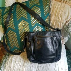 Fossil Vintage Black Leather Purse